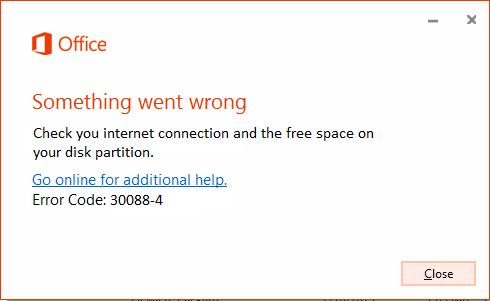 error code 30088-4