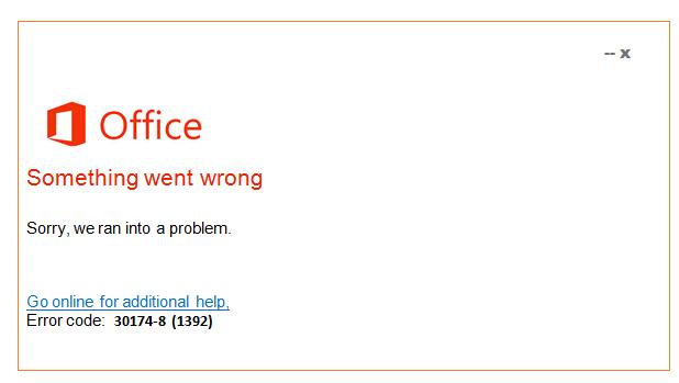 error code 30174-8(1392)