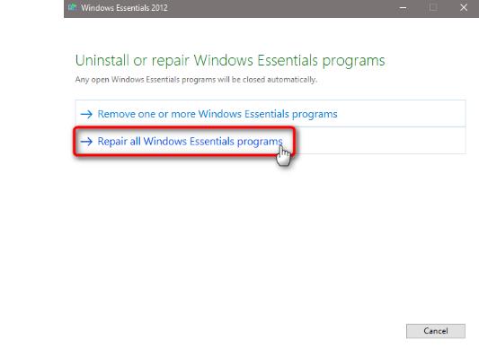 Repair the Windows